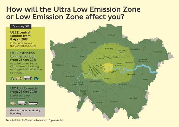 low emission zone map